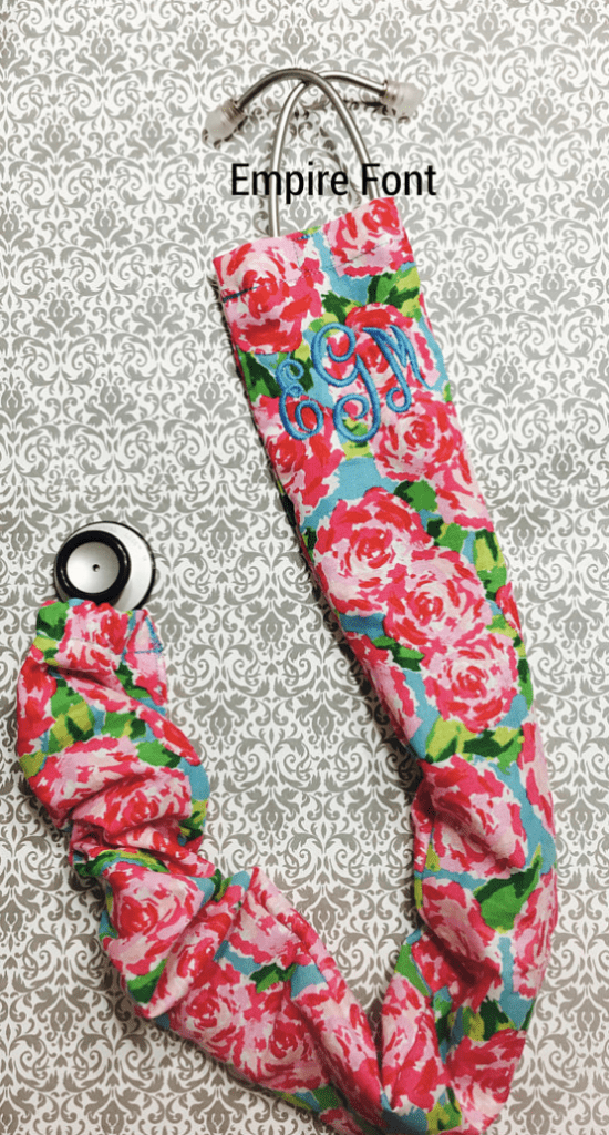 Pink Cat-a-strophic Cat Pattern Stethoscope Scrunchie Cover