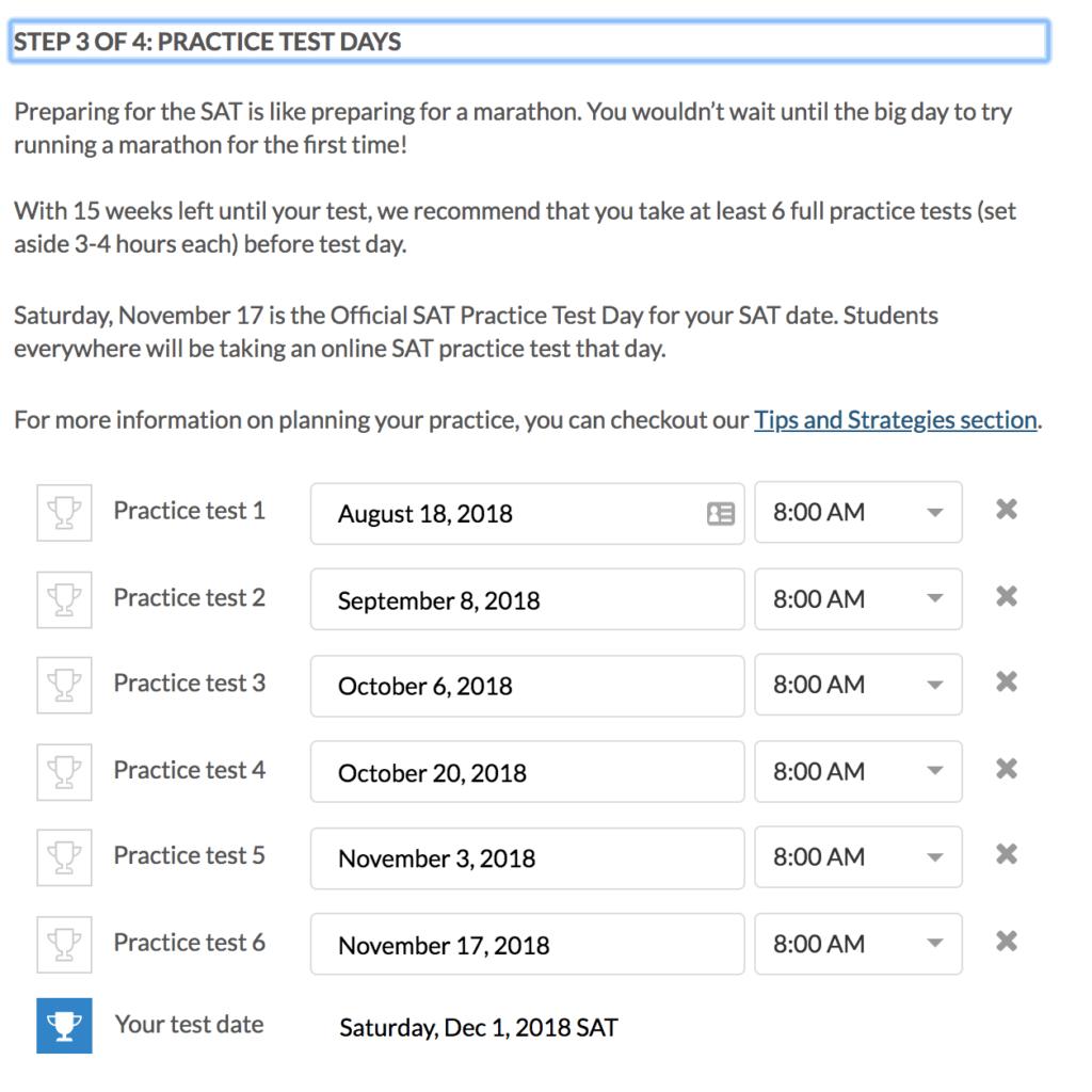 khan academy schedule