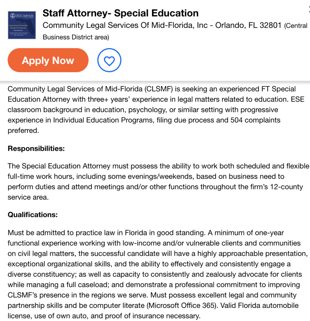 special education attorney