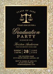 law school grad invites