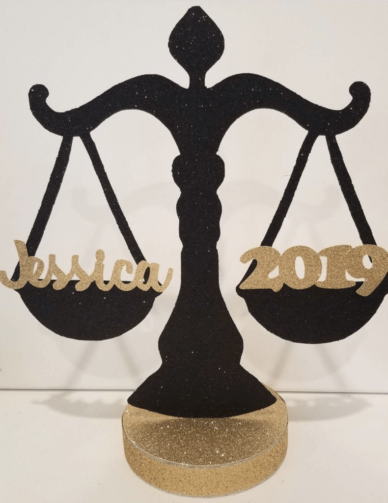 scales of justice decoration