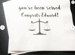 law school decoration napkins