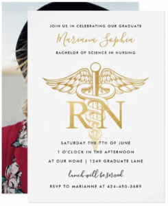 BSN RN Nurse Graduation Invitation