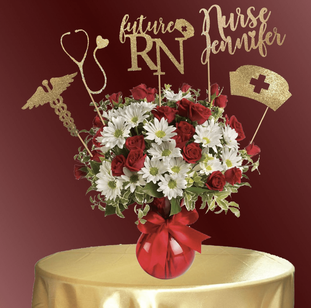nurse graduation party centerpiece