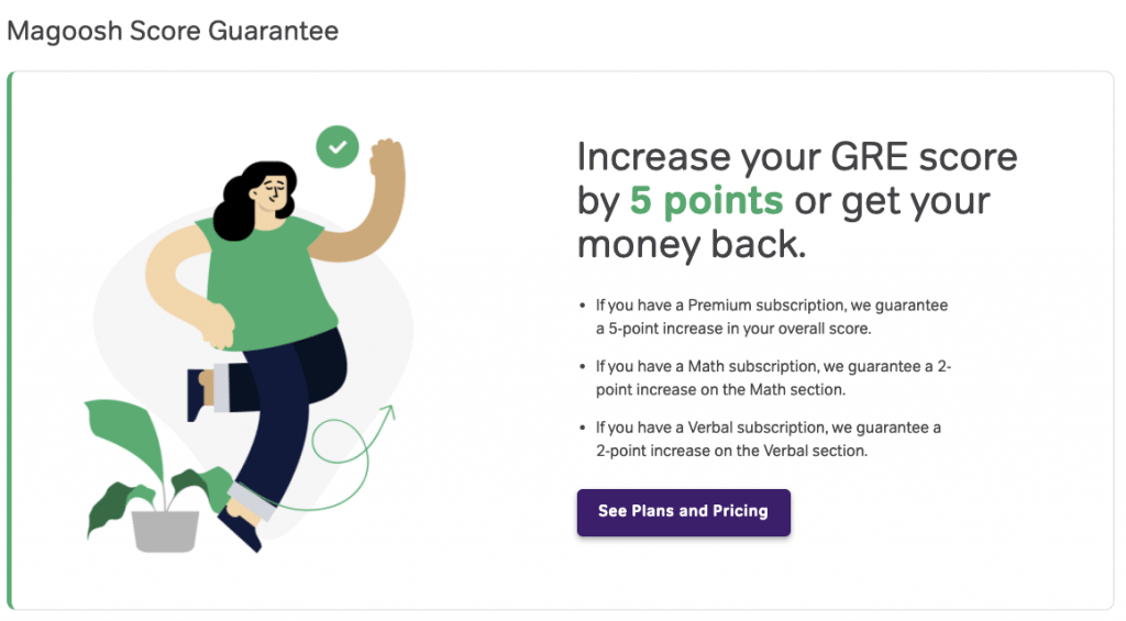 magoosh gre score guarantee