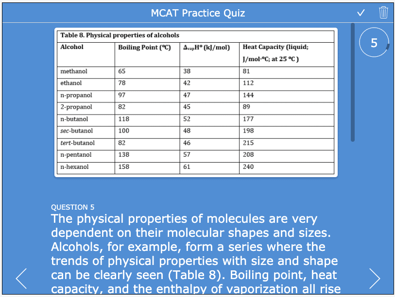 free mcat practice test