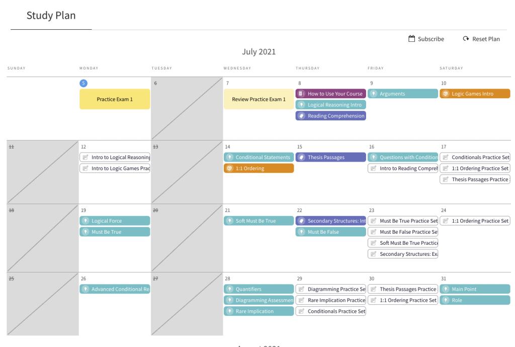 blueprint lsat study plan