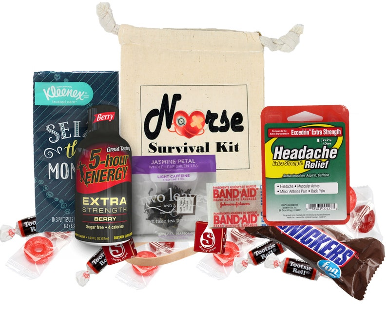 Nurse Survival Kit Fully Loaded With Witty Instruction Card   Etsy